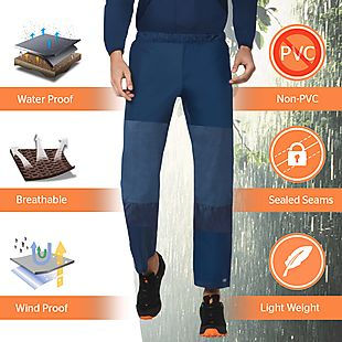 Wildcraft Hypadry Plus Unisex Rain Pant - Navy