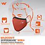 Wildcraft SUPERMASK W95 Plus Reusable Outdoor Respirator - POINTEL ORANGE - Pack of 5